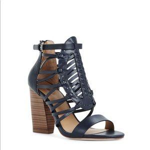 Adorable Navy Blue Gladiator Sandals w/Zipper